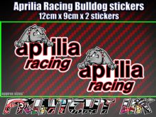 Aprilia Racing Bulldog Stickers x2 supermoto car van bike RS SR Tuono Falco